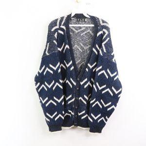 90s Streetwear Mens Large Cardigan Sweater Blue